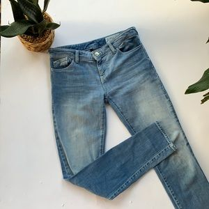 Armani Jeans J23 Lily Push Up Light Wash Sz 23